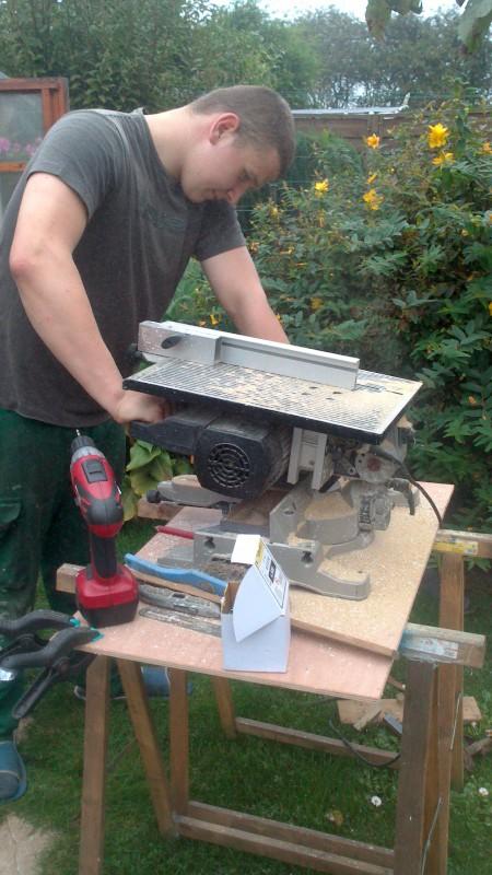 Fabrication cabane pour chat  Dsc_0611