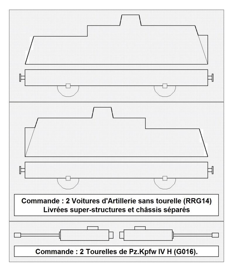 Construction d'une draisine Panzerjäger Triebwagen 51 à l'échelle 1/300°. 13-mat10