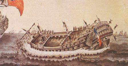 1° juin 1794 : Le VENGEUR livre son dernier combat. 216