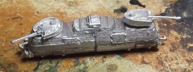 Construction d'une draisine Panzerjäger Triebwagen 51 à l'échelle 1/300°. 41-tri10