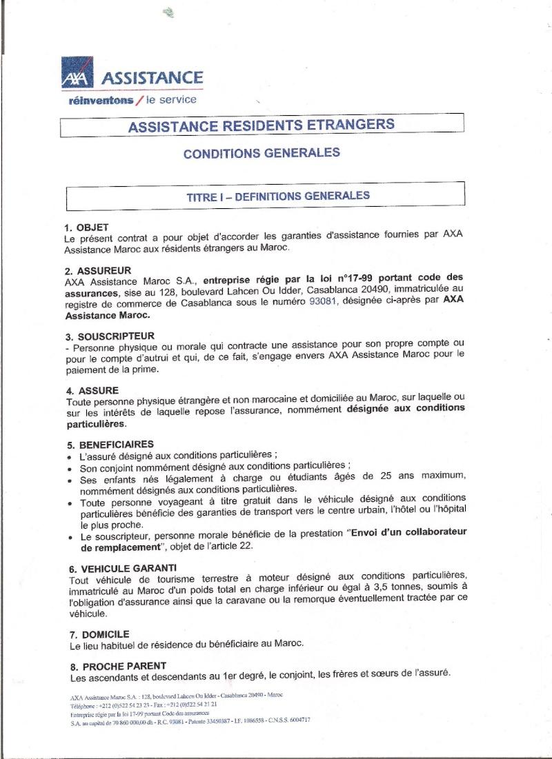 étrangers - AXA : assistance des résidents étrangers au Maroc 13321710