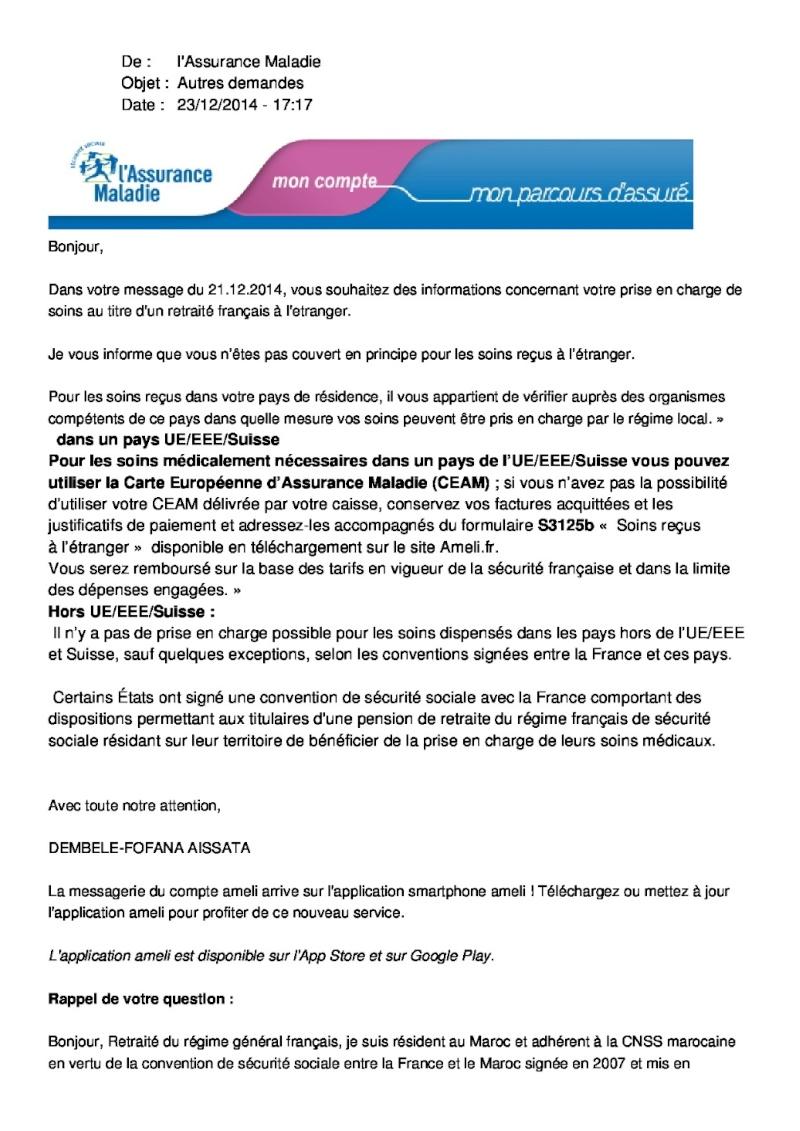Protection sociale des résidents français au Maroc : précisions Assura10