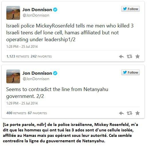 pour - «Vengeance justifiée», le prétexte pour bombarder Gaza Jonh110