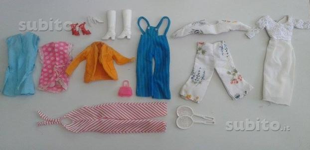 Barbie Mattel 1966 Taiwan corona collana e vestiti 57713410