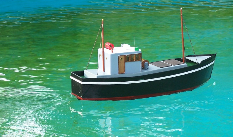 "Inshore fishing boat ""Talisman"" / Ein Recycling-Modell Probe_11"