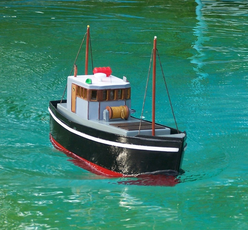 "Inshore fishing boat ""Talisman"" / Ein Recycling-Modell Probe_13"