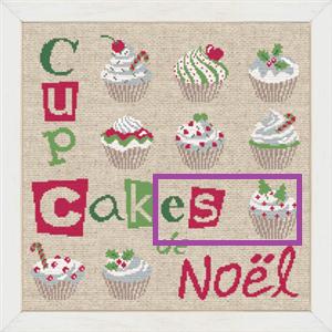 9 ème étape SAL cup cakes de noël 9yme_y10