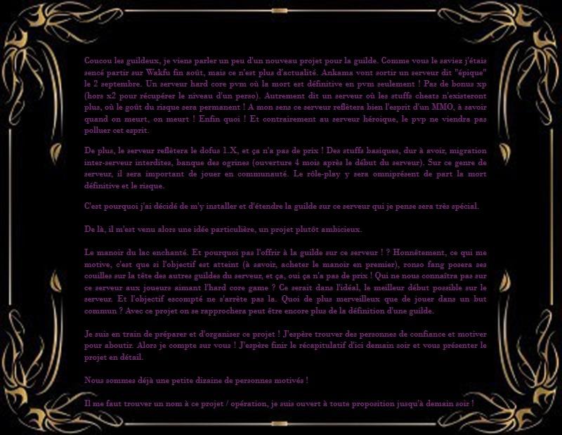 Annonce : Serveur Epique (en préparation) Servep10