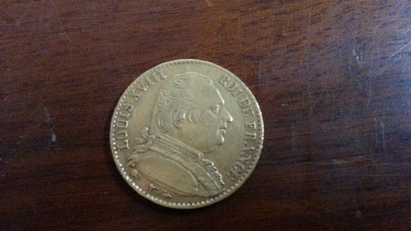20 francs louis 18 buste habillé 01216