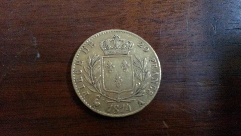 20 francs louis 18 buste habillé 01414