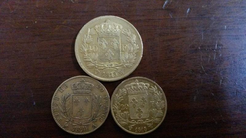 20 francs louis 18 buste habillé 01614