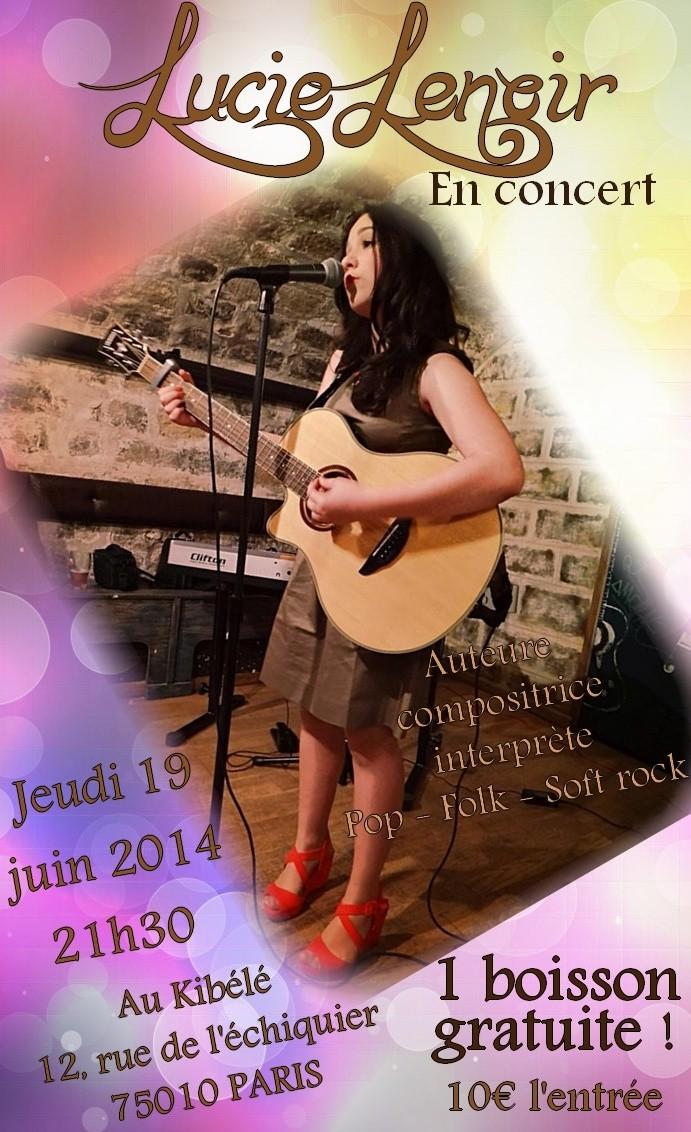 Lucie en concert le 19 juin à Paris Lucie10