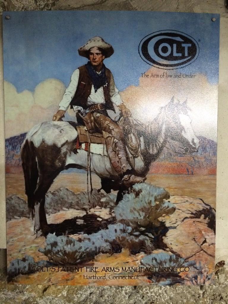 Petit cadre & pancarte Old West  Img_1820