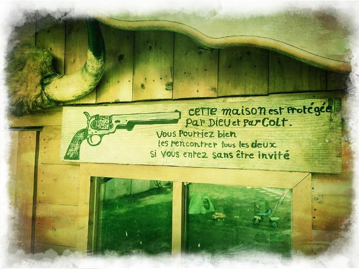 Petit cadre & pancarte Old West  Photof29