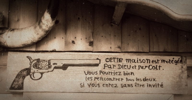 Petit cadre & pancarte Old West  Photof30