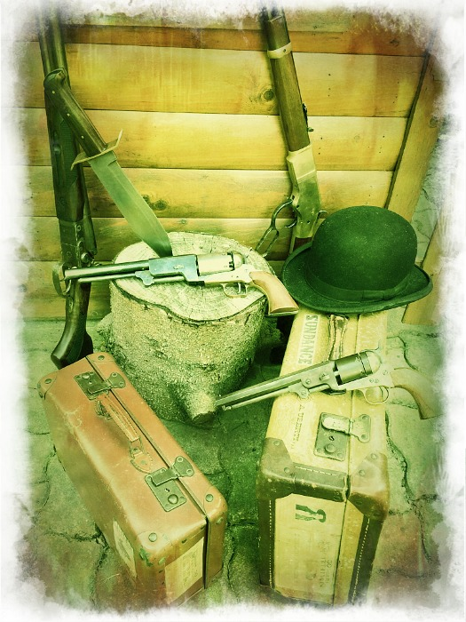 Petit cadre & pancarte Old West  Photof32
