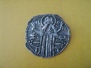 faux moderne d'un real espagnol et monnaie bulgare Byzant14