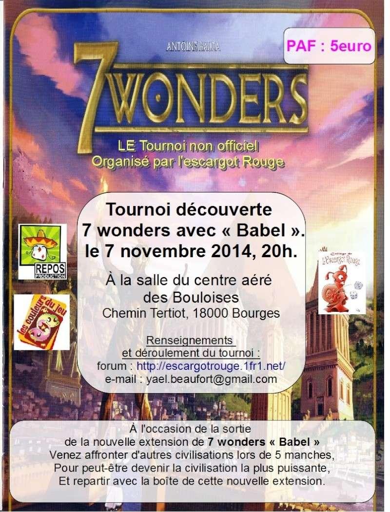 """tournoi découverte 7 wonders """"Babel"""" Affich13"""