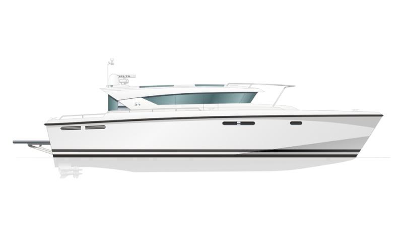 Yacht Delta 54 sur plan au 1/18° 54-pla10