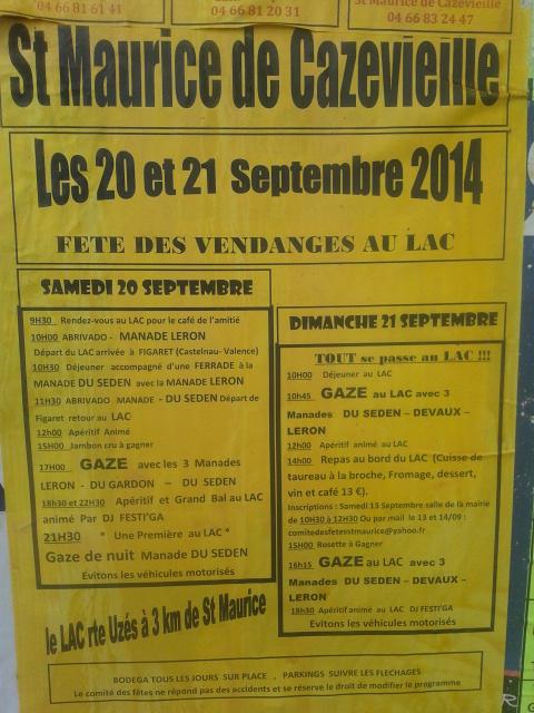 St Maurice de Cazevieille Le Lac 20 et 22 sept 20140910