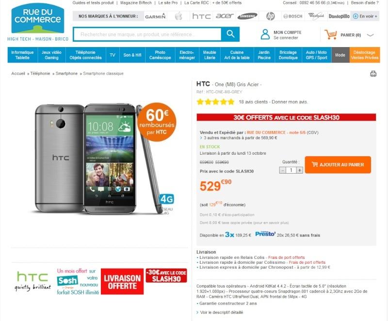 [BON PLAN] Le HTC M8 à 439.90€ Sans_t10