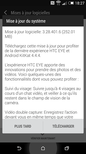 Android 4.4.4 en officiel et en OTA pour le HTC M8. Screen10
