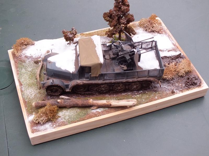Sdkfz 7/1 , 24 th Panzer Division,abandonné,front de l'est , fin d'automne 1942. (NON FINI)( Tamiya  1/35 German 8ton Semitrack w/20mm Flakvierling Sd.Kfz. 7/1 réf:35050) Dscf5325