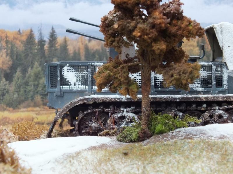Sdkfz 7/1 , 24 th Panzer Division,abandonné,front de l'est , fin d'automne 1942. (NON FINI)( Tamiya  1/35 German 8ton Semitrack w/20mm Flakvierling Sd.Kfz. 7/1 réf:35050) Dscf5330