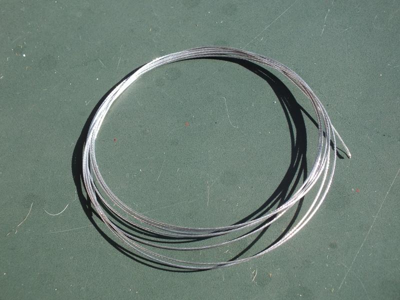 Remplacer les câbles de remorquage en plastique: tresse de laiton Dscf5825