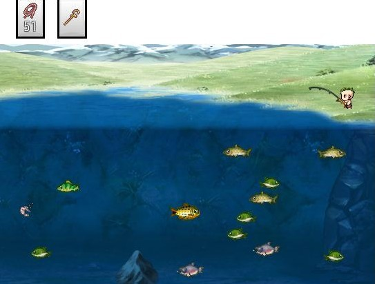 Mini-game Fishing version Guizmo Screen11