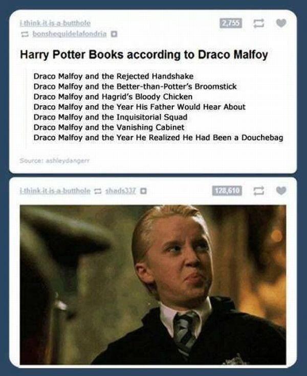 """""""Harry Potter"""" raconté du point de vue de Drago Bpsbc010"""