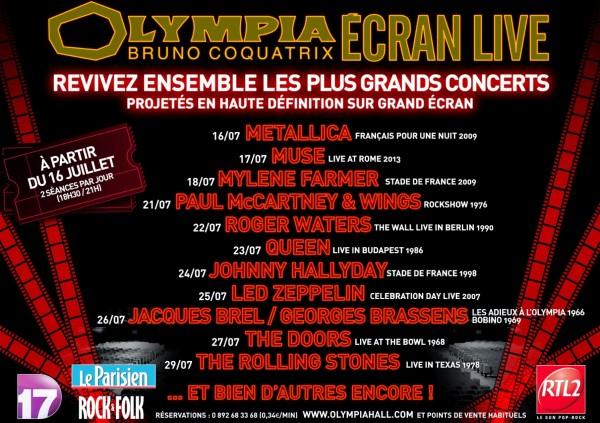 Ecran Live à l'Olympia : Des concerts en Haute-Définition sur grand écran ! 77725310