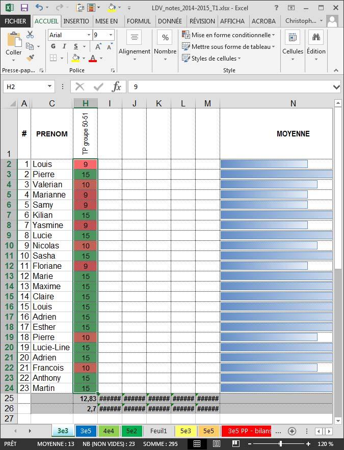 Copier-coller des notes depuis Excel dans Pronote Copier11