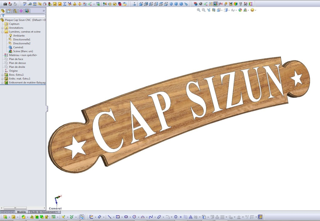 Gravure CNC avec V-Engrave d'une plaque de bateau. Captur31