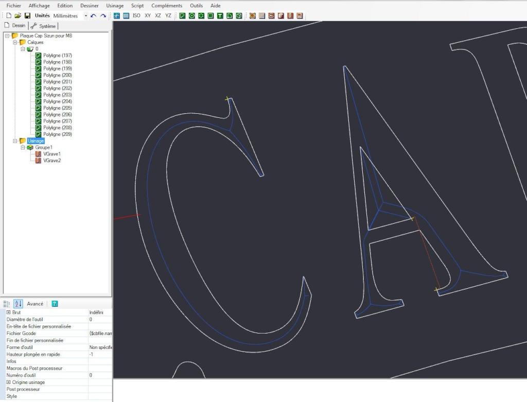 Gravure CNC avec V-Engrave d'une plaque de bateau. Captur34