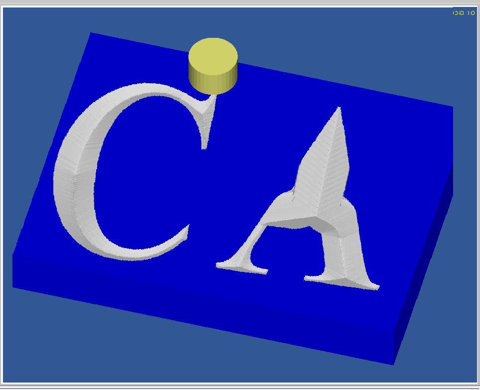 Gravure CNC avec V-Engrave d'une plaque de bateau. Captur35