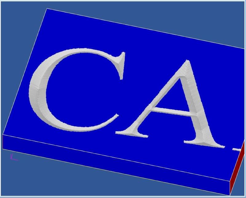 Gravure CNC avec V-Engrave d'une plaque de bateau. Captur36