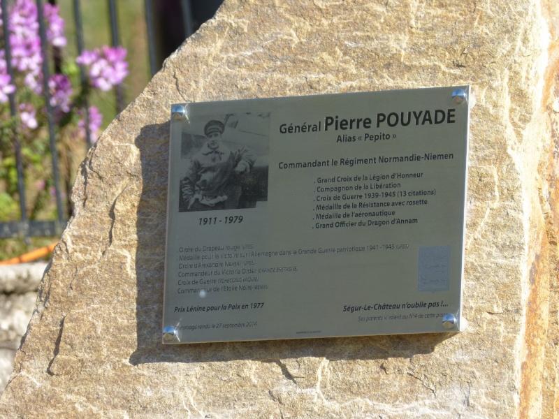 Inauguration stèle Pierre Pouyade à Ségur le Château et conférence Normandie Niemen vendredi 26 septembre à Tulle 2_plaq10