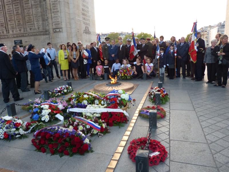 13 septembre 2014 Cérémonie Normandie Niemen aux Invalides et à l'Arc de Triomphe 8_arc_10