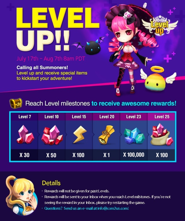[INFO] Level up event! 10543010