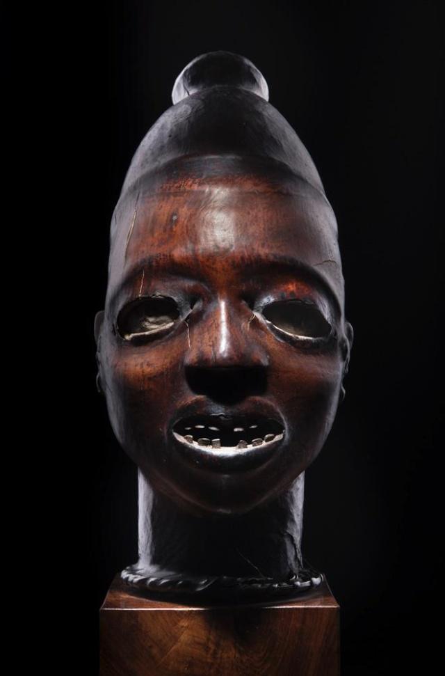 Ekoi/ Ejagham people, Ekpe society, Skin-covered wood mask headdress, Nigeria, Cross River Region Ekoi_f10