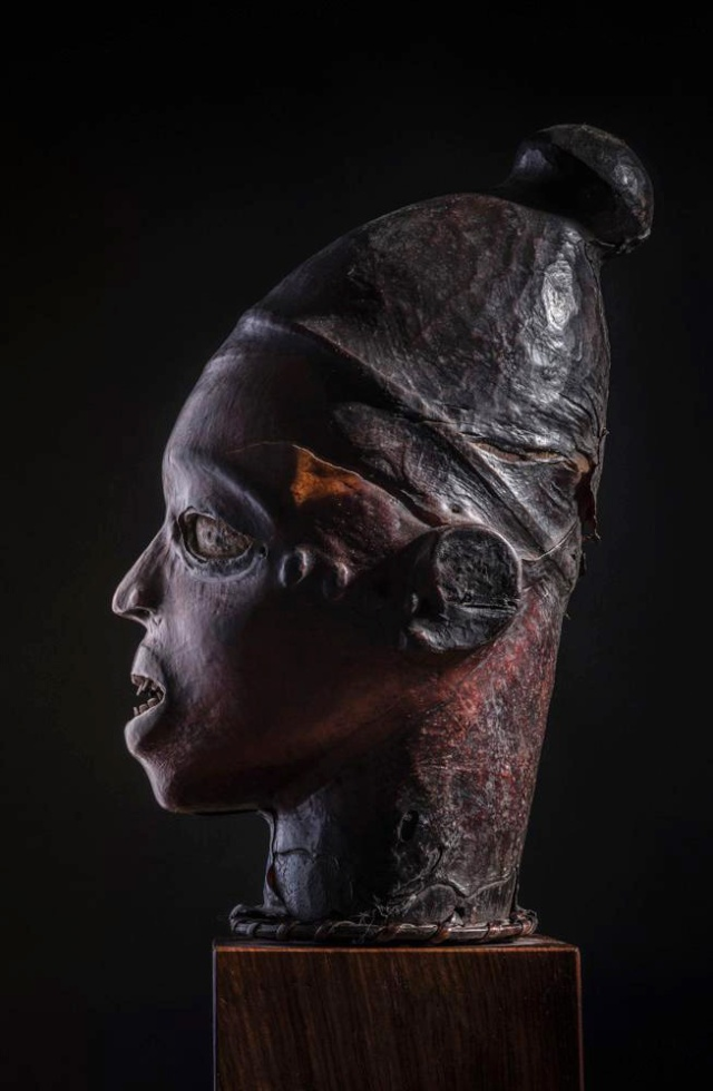 Ekoi/ Ejagham people, Ekpe society, Skin-covered wood mask headdress, Nigeria, Cross River Region Ekoi_p10