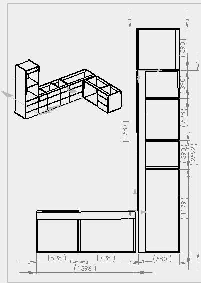 Fabrication d'une cuisine en frêne olivier Snag-012