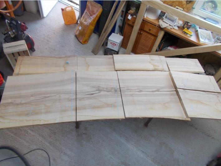 Fabrication d'une cuisine en frêne olivier Snag-015