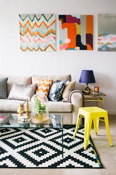 Peinture, aménagement et déco pour mon nouveau salon!  55d1c310