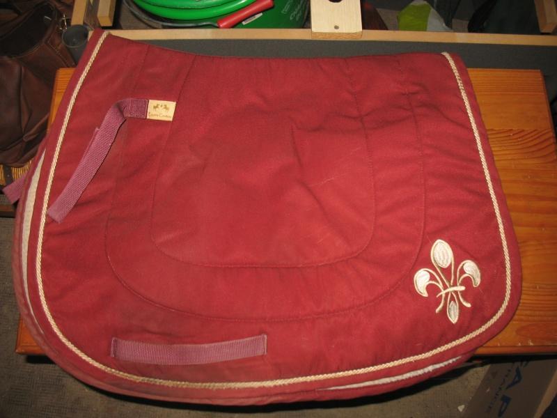 Beaucoup de matériel à vendre (tapis, sangle, couverture, protections CSO, guêtres dressage, licol étho, veste imper, ...) Img_6231
