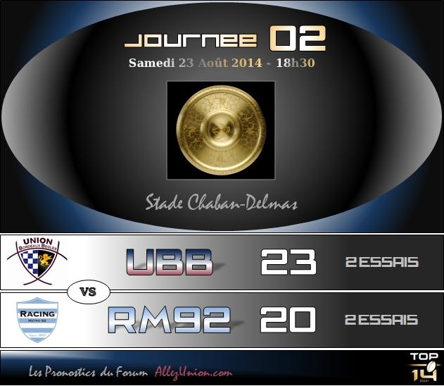PRONOS 2014/2015 . UBB - RM92 J0210