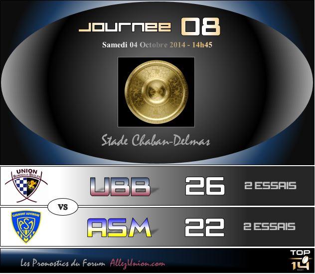 PRONOS 2014/2015 . UBB - ASM J0810