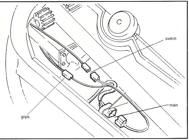 1994 BMW K100RS:  What are those electrical connectors under the tank for?  Left side of the frame. Tilkob11