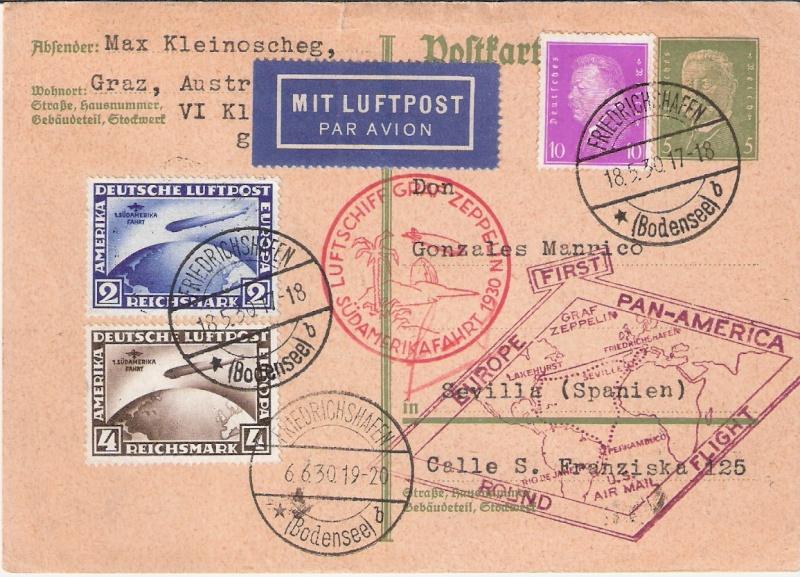 """Südamerikafahrt 1930 (Rundfahrt-) Post nach Friedrichshafen"""" - Seite 4 Scanne11"""
